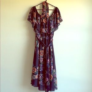 Eloquii Dresses - Eloquii Printed Off the Shoulder Midi Dress